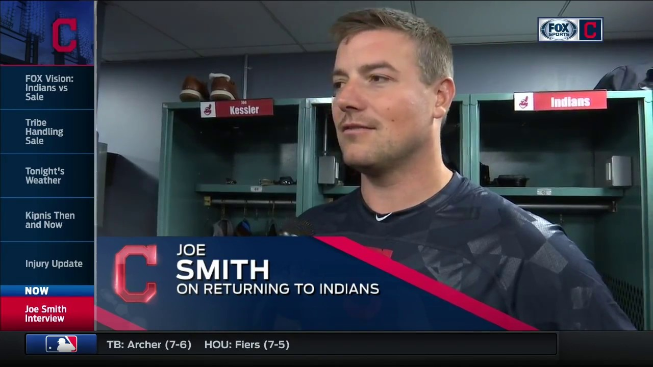Joe Smith reflects on his return to the Cleveland Indians bullpen