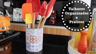 5 ideias diferentes e práticas de organizar os talheres e facas de corte Thumbnail