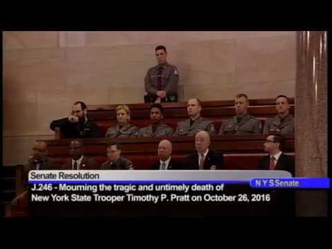 New York State Senate Resolution honoring New York State Trooper Timothy P. Pratt