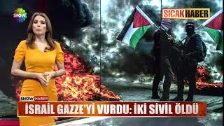 İsrail Gazze yi vurdu İki sivil öldü