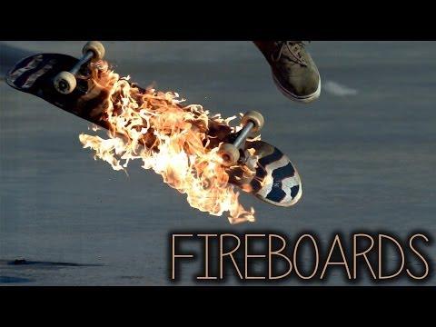 Fireboards: Skateboarding On Fire (2000FPS Slow Motion)