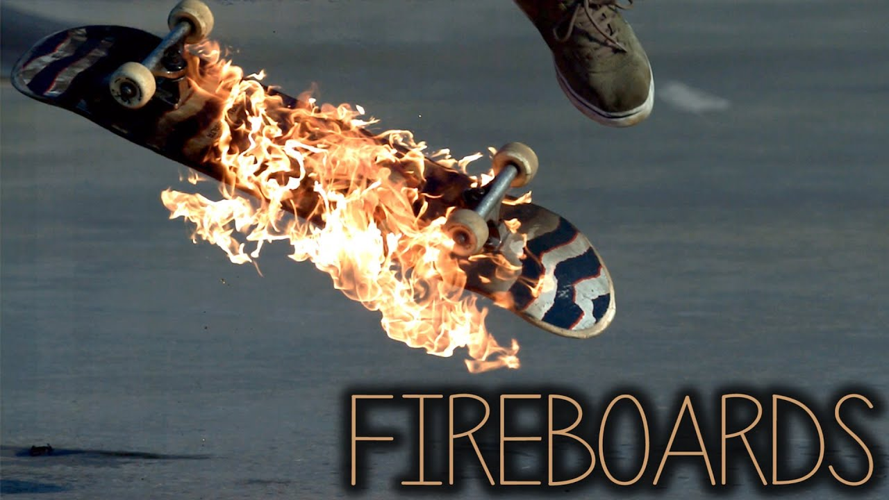 3d Crazy Wallpaper Fireboards Skateboarding On Fire 2000fps Slow Motion