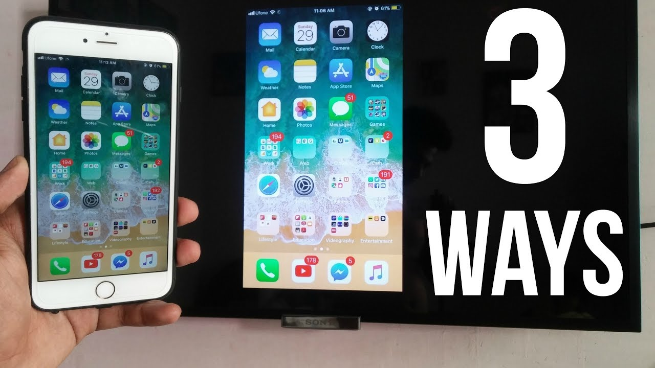 3 Ways to Screen Mirror iPhone to Any TV (No Apple TV Required)