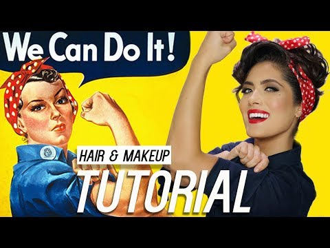 Rosie the Riveter Hair and Makeup Tutorial | Melissa Alatorre