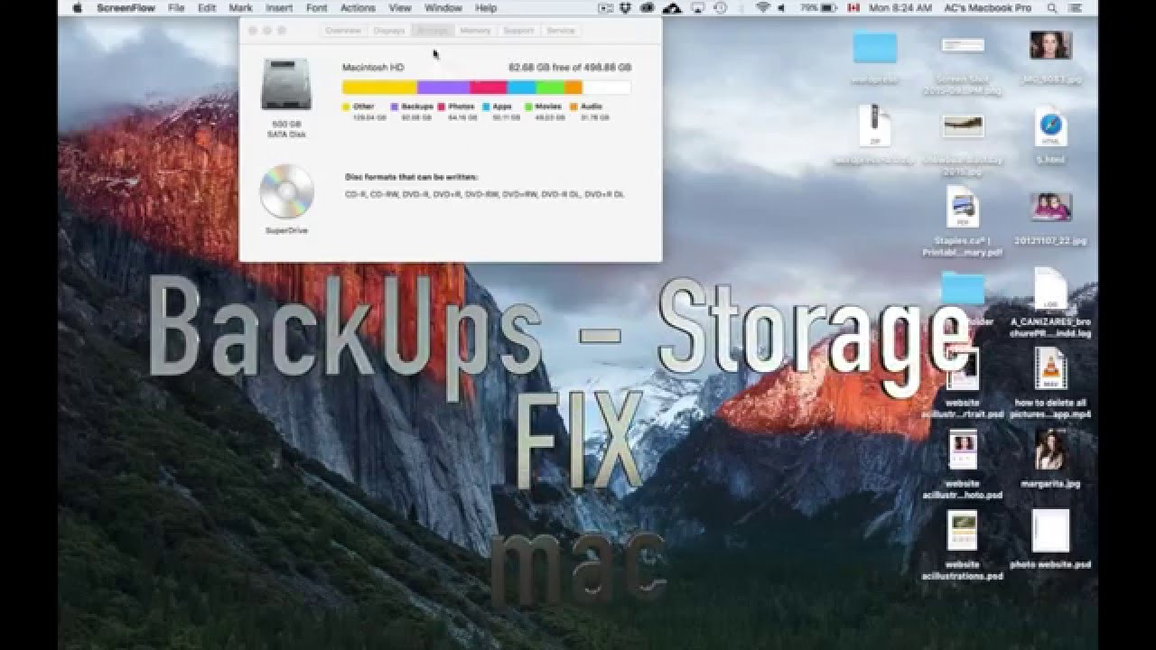 Losing Mac drive space to