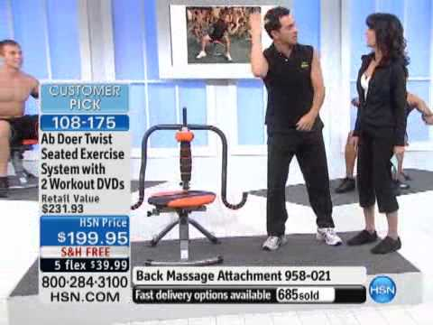 Ab Doer Twist Seated Exercise System with 2 Workout DVDs