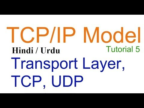 Transport layer, TCP, UDP in TCP/IP Layers in Hindi Urud, TCP IP model tutorial lecture 5