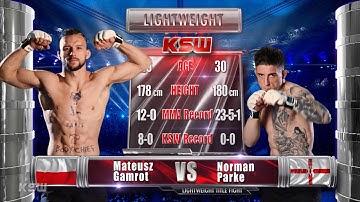KSW Free Fight: Mateusz Gamrot vs Norman Parke 1 | KSW 53
