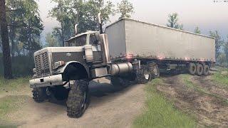 spintires peterbilt 379 y volvo fmx de regreso en el bosque   camiones potentes   spintires