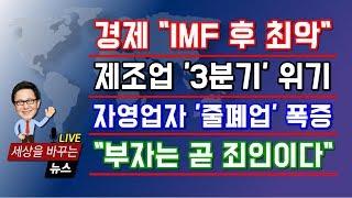 """[실물경제 쇼크] 경제성장률 """"IMF 이후 최악""""...제조업"""