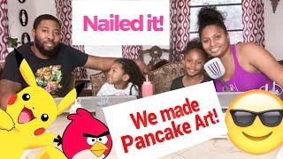 Nailed it | Pancake art challenge! First time trying pancake art!