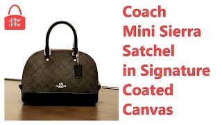 Coach Mini Sierra Satchel in Signature Coated Canvas 58295