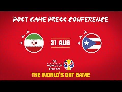 Iran v Puerto Rico - Press Conference - FIBA Basketball World Cup