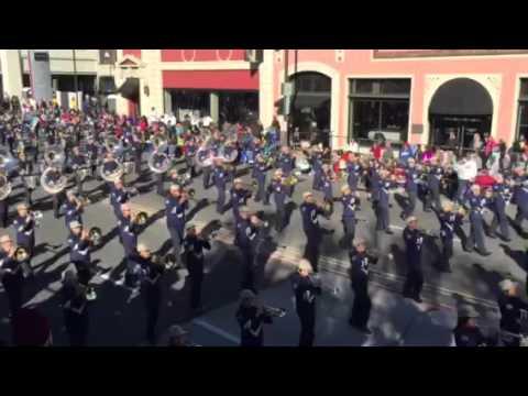 2016 Rose Bowl Parade Punahou marching band Tournament of Roses Parade Pasadena California Nellie