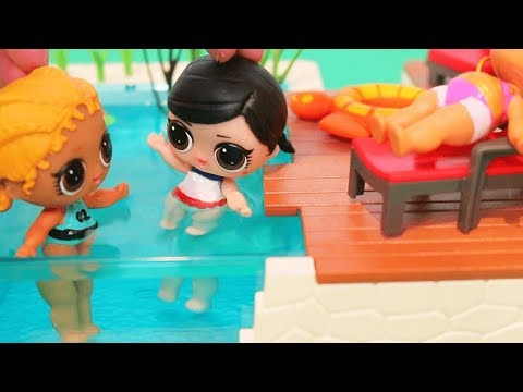 LOL Dolls Find Invisible Unicorn ! Toys for Kids Fun Playing with LOL Surprise in DIY Bathing Suits