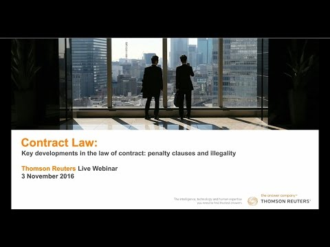 Contract Law Webinar: penalty clauses and illegality