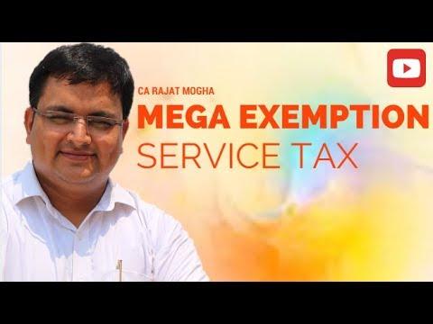 SERVICE TAX- Mega Exemption for CA Nov 17- Lec - 1
