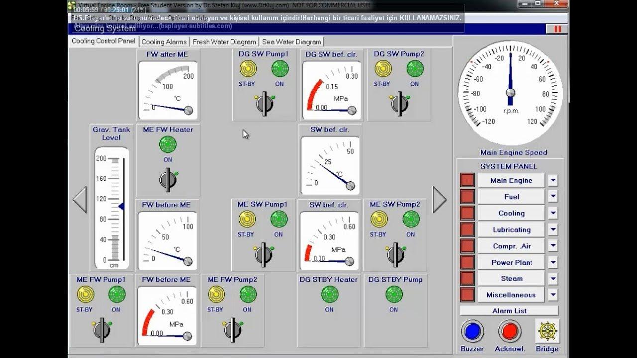virtual engine room simulation by g ktu lba youtube rh youtube com Liberty Ship Engine Room Submarine Engine Room