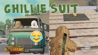 PUBG MOBILE| TRAINING TRICKS| GHILLIE SUIT | CHICKEN IN TOP |
