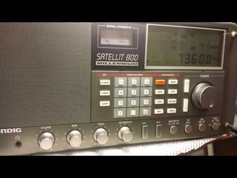 Grundig Satellit 800 Millennium  receiving Vatican Radio  in Swahili on 7360 at 0320UTC