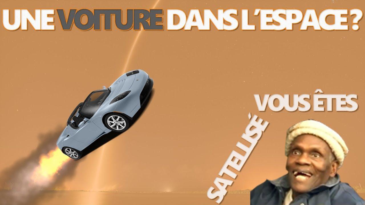 tesla roadster et space x une voiture dans l 39 espace youtube. Black Bedroom Furniture Sets. Home Design Ideas