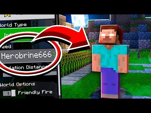 Minecraft PE: DO NOT PLAY ON THE HEROBRINE SEED! (Warning)
