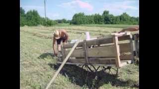 Пресс для сена и соломы своими руками  DIY Handmade Mini Baler