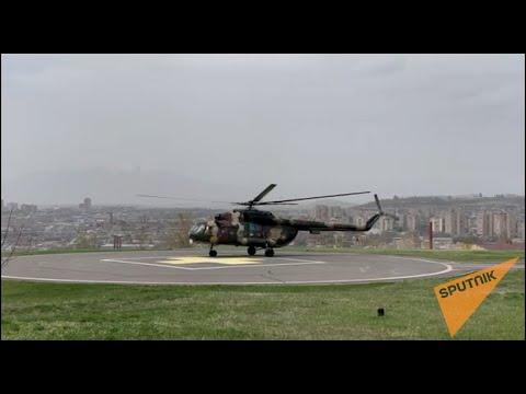 Из здания Минобороны Армении на вертолете эвакуируют женщин