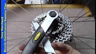 Cassette Remove Install using Lock Ring Wrench with Handle