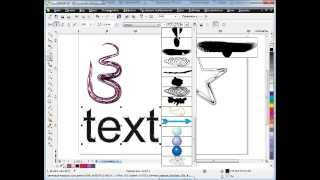 Видео уроки CorelDraw  Инструмент Кисть