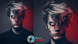 picsart tutorial Demon look make in pics art😱😱