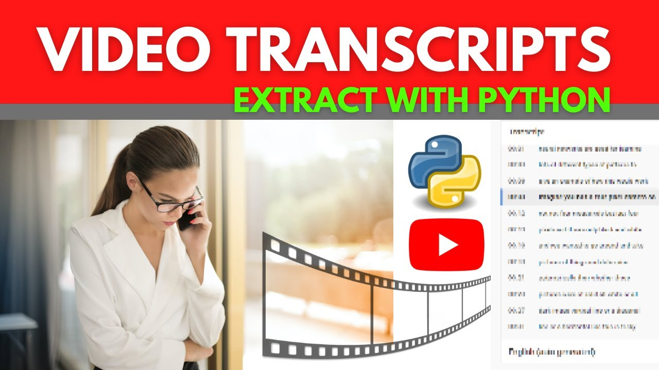 How to get the transcript of a YouTube video