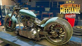 NEW - Motorcycle Mechanic Simulator| Building My Own Repair Shop in My Garage | Demo First Look screenshot 2