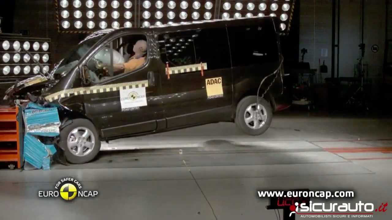 crash test euro ncap renault trafic youtube. Black Bedroom Furniture Sets. Home Design Ideas