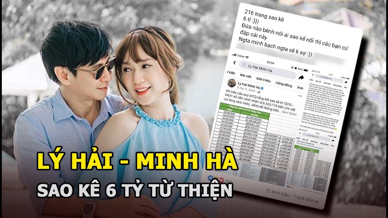Lý Hải Minh Hà sao kê 6 tỷ từ thiện, dân mạng nói không cần và lời đáp trả gây sốt - YouTube