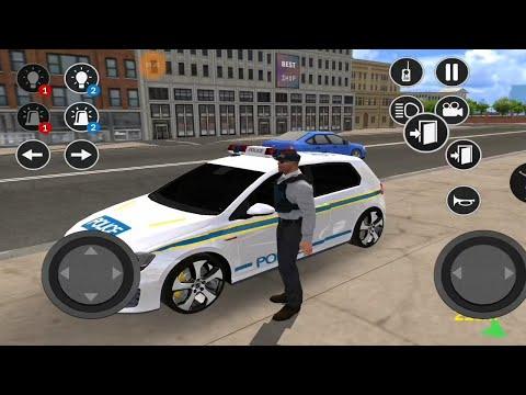 Police Car Game Simulation 2021 #10 Polis Arabası Oyunu  Gerçek Polis Arabası / ışıklı Polis Arabası