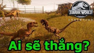 Jurassic World Evolution Game #6: Dilophosaurus VS velociraptor ai sẽ chiến thắng