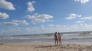 Шторм на море в Витязево 14.08.2016 17.00