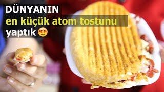 Dünyanın En Küçük Atom Tostu Nasıl Yapılır ? w/ Mini Türk Mutfağı