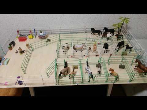 Как сделать конюшню для игрушечных лошадей своими руками видео