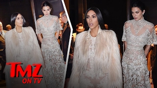 Kim Kardashian and Kendall Jenner Get All Dressed Up For