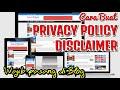 - CARA BUAT PRIVACY DAN DISCLAIMER BLOG