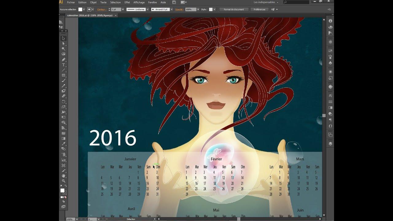 Illustration Calendrier.Comment Creer Rapidement Un Calendrier Sous Illustrator How To Create A Calendar