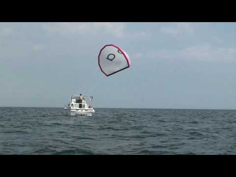 The OMEGASAILS-kite for powerboats