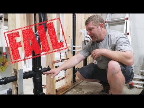 FAILED Plumbing Inspection!