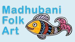 Art Exploration - Madhubani Folk Art Fish