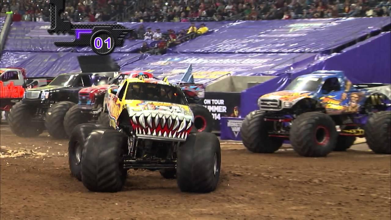 Monster Jam In Reliant Stadium Houston Tx 2014 Full Show Episode 2 Youtube