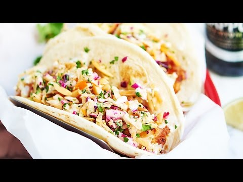 Beer Battered Fish Tacos Recipe - Show Me The Yummy -   Episode 3