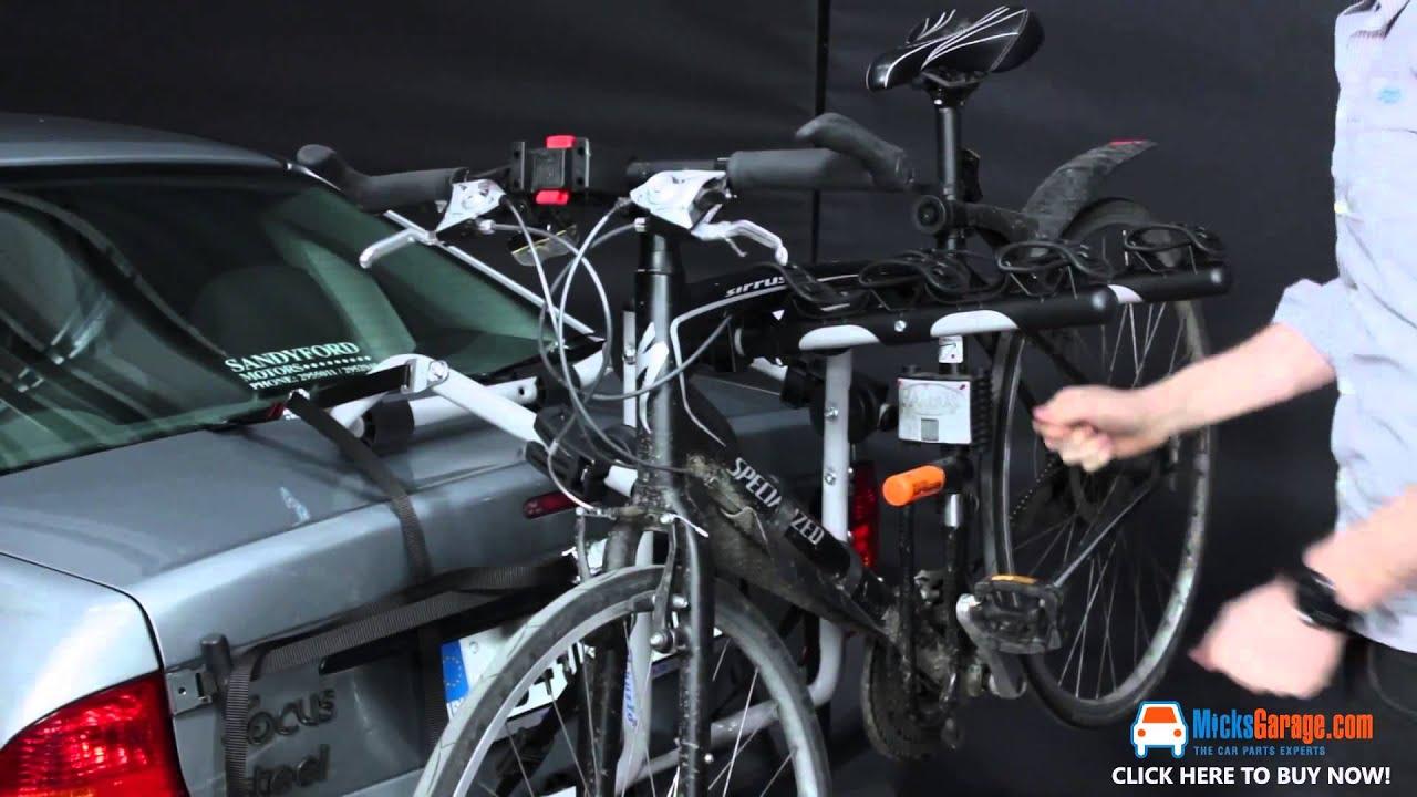 3 Bike Rear Door Mounted Bike Carrier Opel Astra Youtube