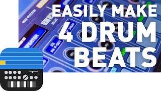 Easily Make 4 Different Drum Beats - Korg Gadget